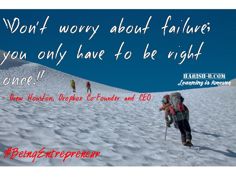 Embrace Failure : harish-b.com