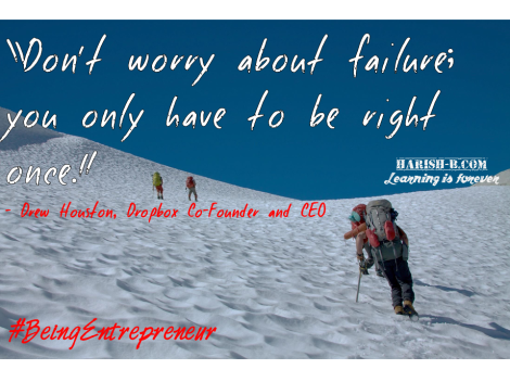 Embrace Failure : harish-b.com #BeingEntrepreneur