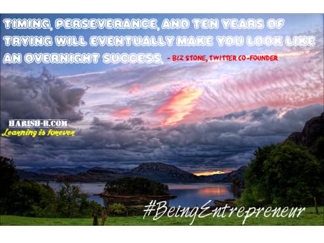Persevere - #BeingEntrepreneur : harish-b.com